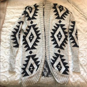 Hollister Tribal Print Cardigan Sz. S
